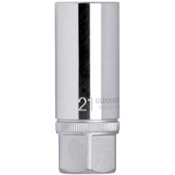 Chave para Velas Sextavada 21mm 1/2 com Borracha R61022112 Gedore Red