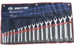 Jogo de Chave Combinada 6 a 24mm 18pçs 1218MR01 King Tony