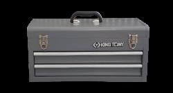 Bau metalico com 2 gavetas e com tampa superior Cinza  87A07-2A-G  KING TONY