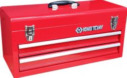 Bau metalico com 2 gavetas e com tampa superior Vermelho  87A07A-2A KING TONY
