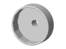 Chave 14 lados para Saca filtro de Oleo do Motor Renault 1.0 12V 3cc Raven 101053
